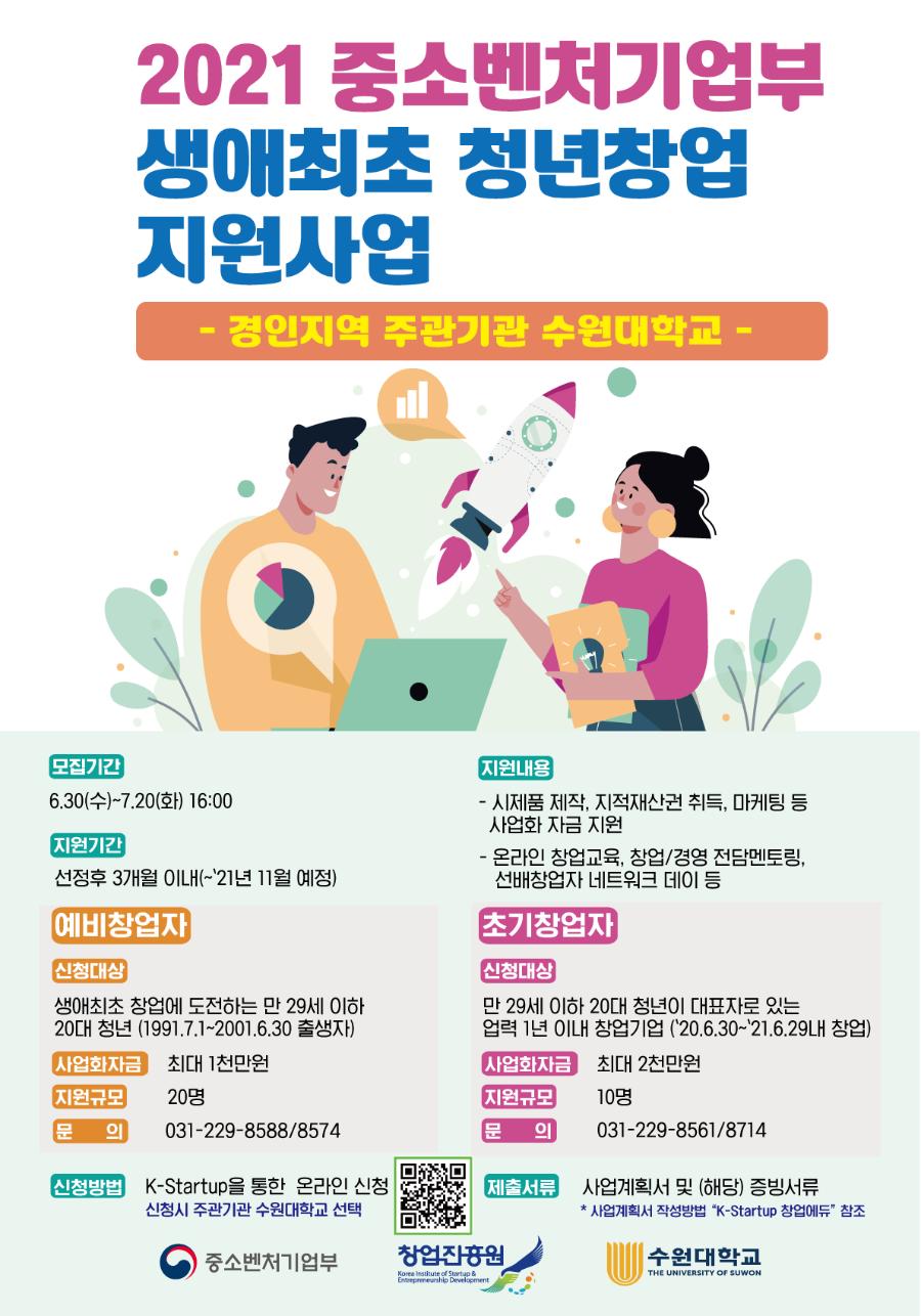 2021년 생애최초 청년 창업지원 포스터.png